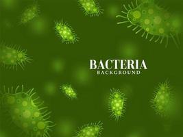 moderner grüner Bakterienhintergrund vektor