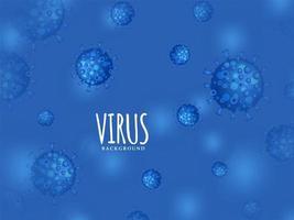 moderner Virus infizierter blauer Hintergrund vektor