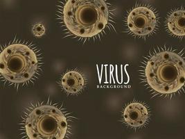 Hintergrund der Virusinfektion vektor