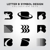 Buchstabe b Symbol Design vektor