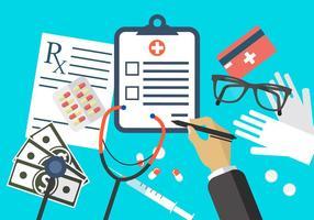Plana medicinska illustrationer vektor