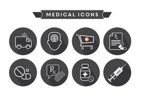 Gratis medicinska ikoner vektor
