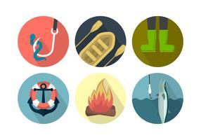 Vektor fiske ikoner