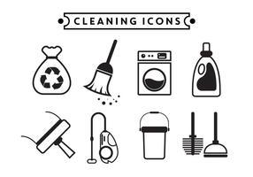 Reinigung Vektor Icons