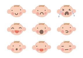 Baby ansikte vektorer