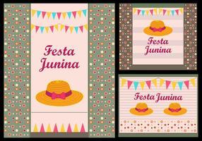 Festa Junina Einladungskarten Illustration vektor