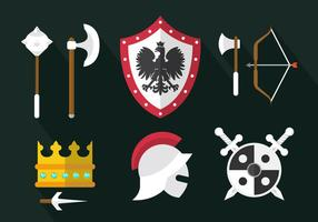 Mittelalterliche Waffenvektoren vektor