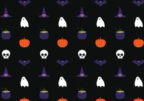 Freier Halloween-Muster-Vektor