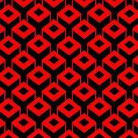 Quadratischer kubischer Kastenmusterhintergrund 3d vektor