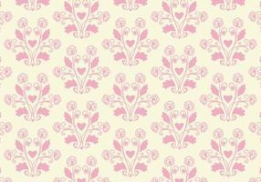 Gratis Vector Pink Toile Blom bakgrund
