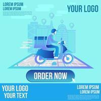 leveransservice design vektor