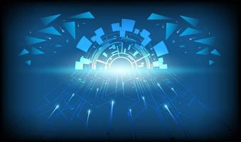 abstrakter technologischer Hintergrund vektor
