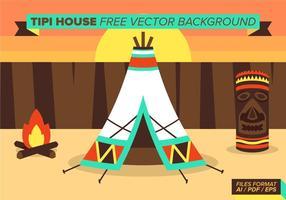 Tipi House Gratis Vector Bakgrund