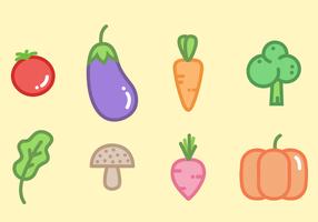 Freier Gemüse-Vektor vektor