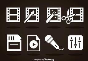Videobearbeitung White Icons