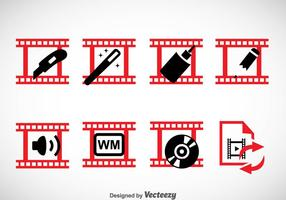 Videobearbeitung Icons Sets