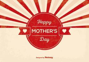 Retro mors dag illustration vektor
