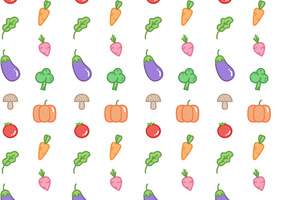 Gratis grönsaksmönstervektor