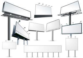 Hackning Billboard Mall Vector Set