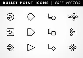 Bullet Point Ikoner Gratis Vector