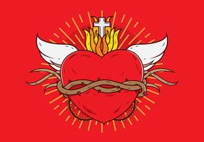 Freies heiliges Herz-Vektor vektor