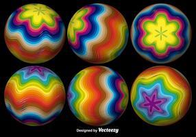 3D abstrakte Kugel in verschiedenen Winkeln vektor