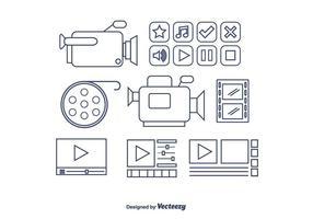Videobearbeitung Vektor