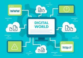 Free Flat Digital Marketing Vektor Hintergrund