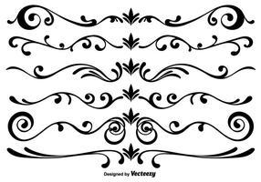 Vektor Scrollwork Elemente