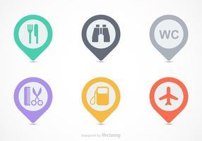 Kostenlose Kartenlegende Vector Icons