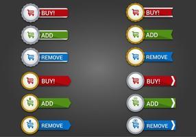 Free Web Buttons Set 16 Vektor