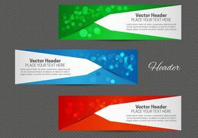 Gratis abstrakt header vektor