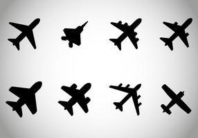 Gratis flygplan vektor