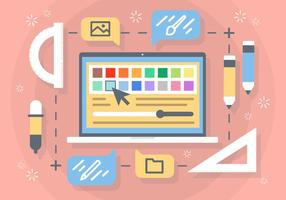 Free Flat Creative Prozess Vektor Hintergrund