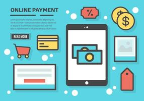 Gratis online betalnings vektor bakgrund