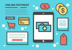 Kostenlose Online-Zahlung Vektor Hintergrund