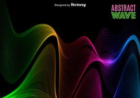 Vektor abstrakt färgrikt spektrum / våg