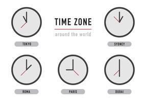 Zeitzone Uhren vektor