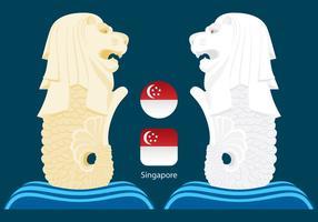 Singapur merlions vektor