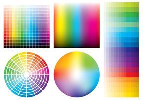 Färgprover vektor