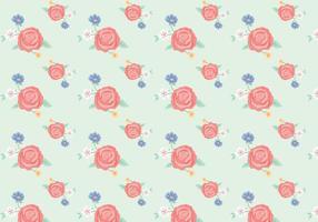 Weinlese-Blumen-Muster