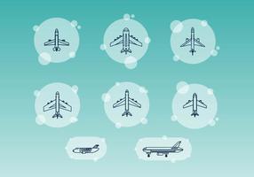 Freie Flugzeuglinien Vektoren