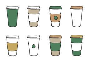 Kaffee-Hülsen-Schalen-Vektoren vektor