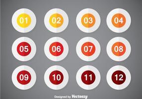 Nummerierte Bullet Points Vektor