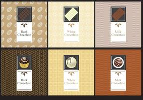 Schokoladenetiketten vektor