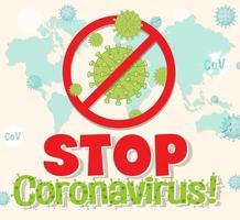 Stoppen Sie das Coronavirus vektor