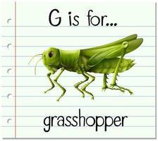 g är för gräshoppa