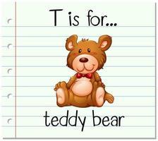 t ist für Teddybär vektor