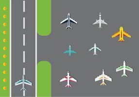 Gratis flygplan vektorpaket