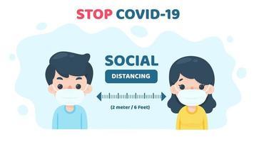 människors sociala distans vektor